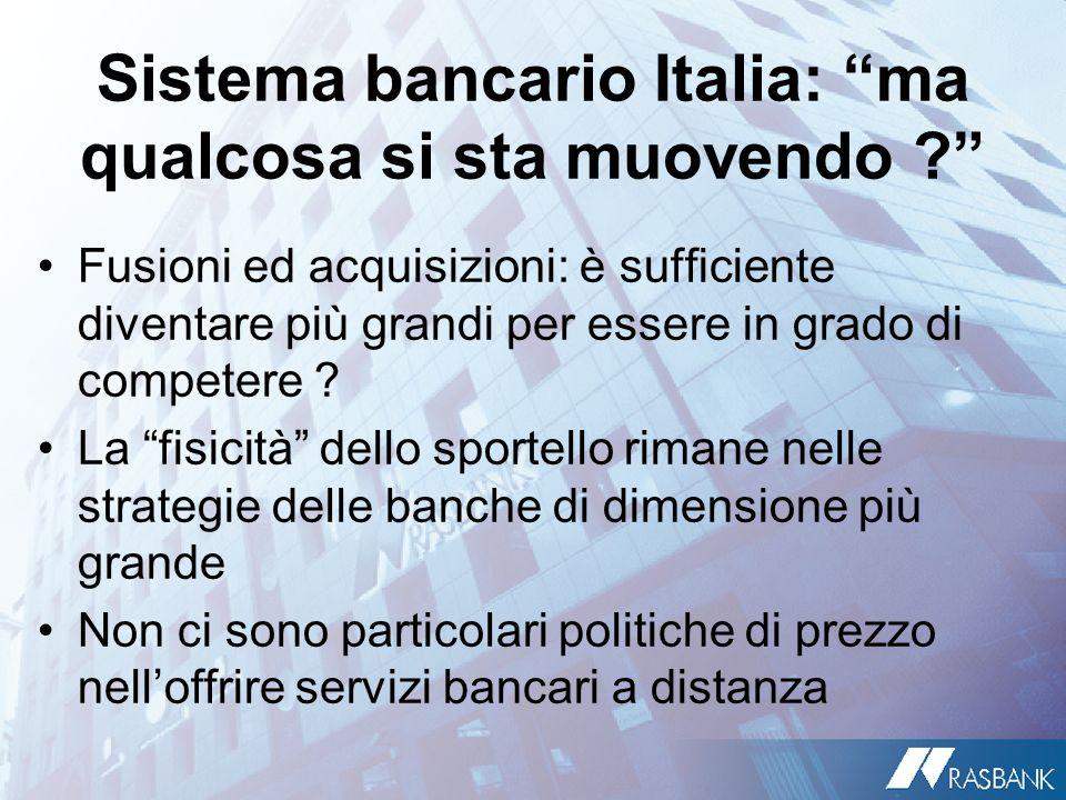 Sistema bancario Italia: ma qualcosa si sta muovendo