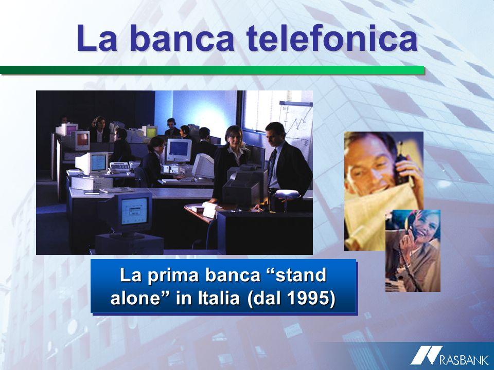 La prima banca stand alone in Italia (dal 1995)