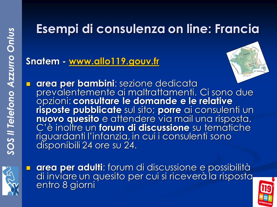 Esempi di consulenza on line: Francia
