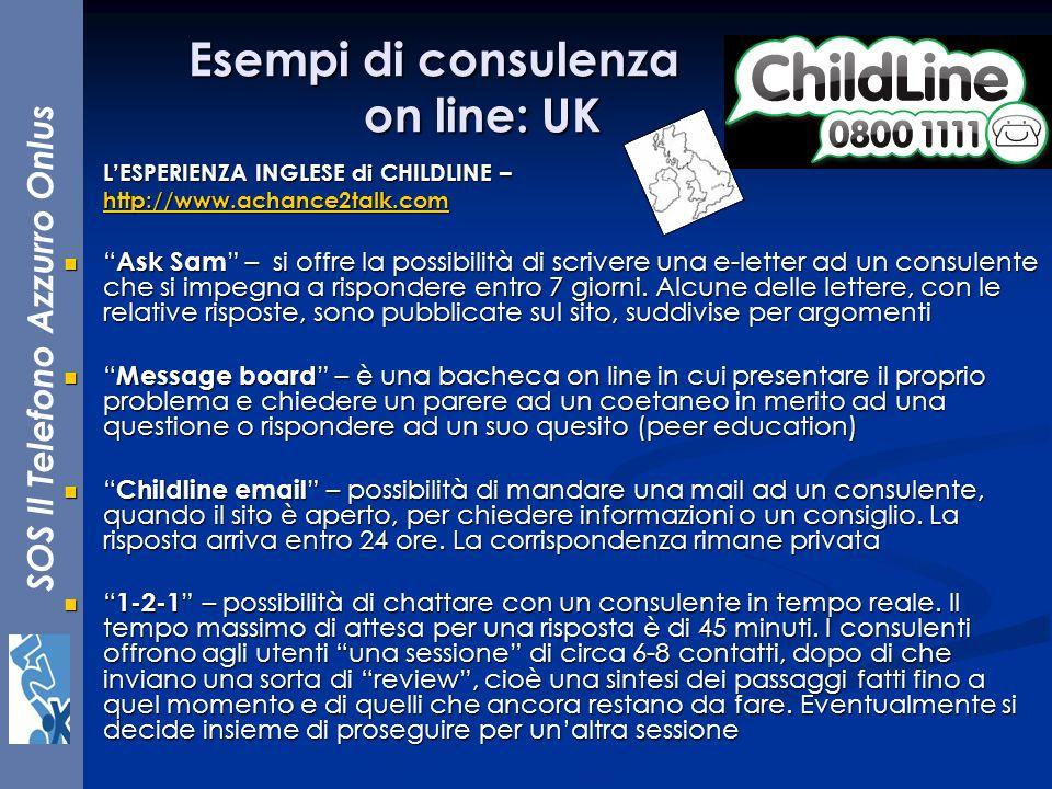 Esempi di consulenza on line: UK
