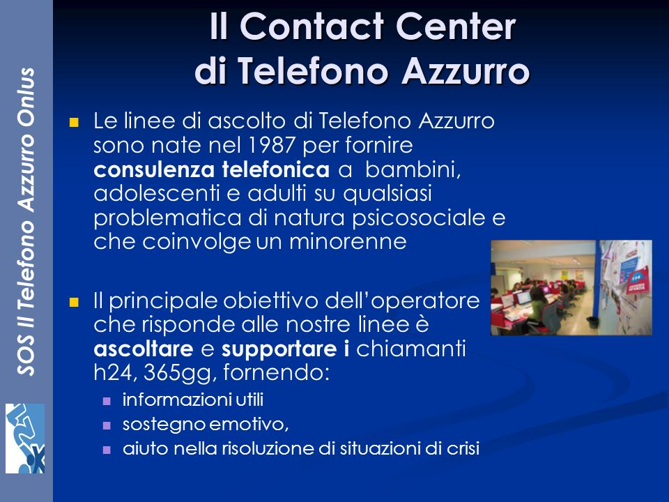 Il Contact Center di Telefono Azzurro