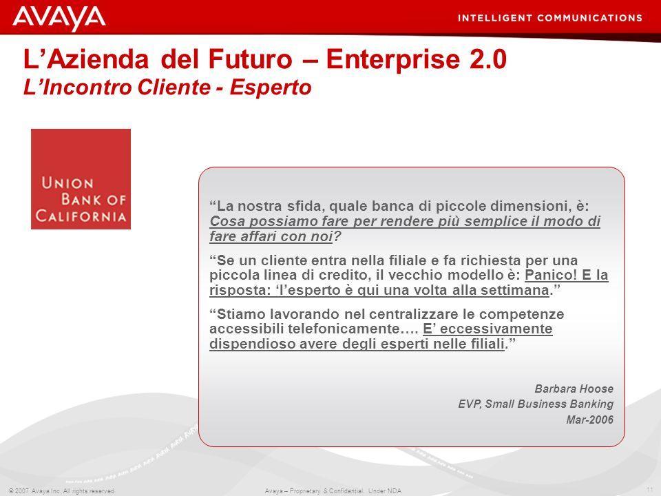 L'Azienda del Futuro – Enterprise 2.0 L'Incontro Cliente - Esperto