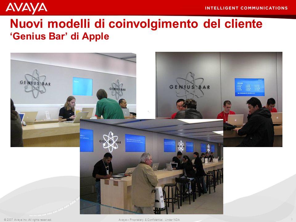 Nuovi modelli di coinvolgimento del cliente 'Genius Bar' di Apple