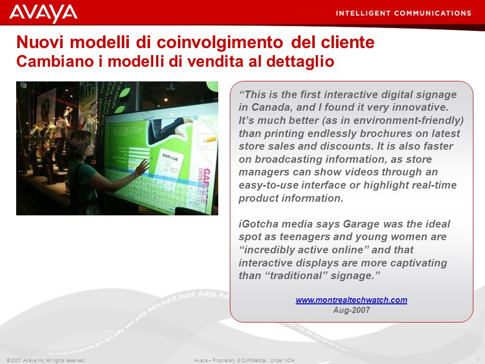 Nuovi modelli di coinvolgimento del cliente Cambiano i modelli di vendita al dettaglio