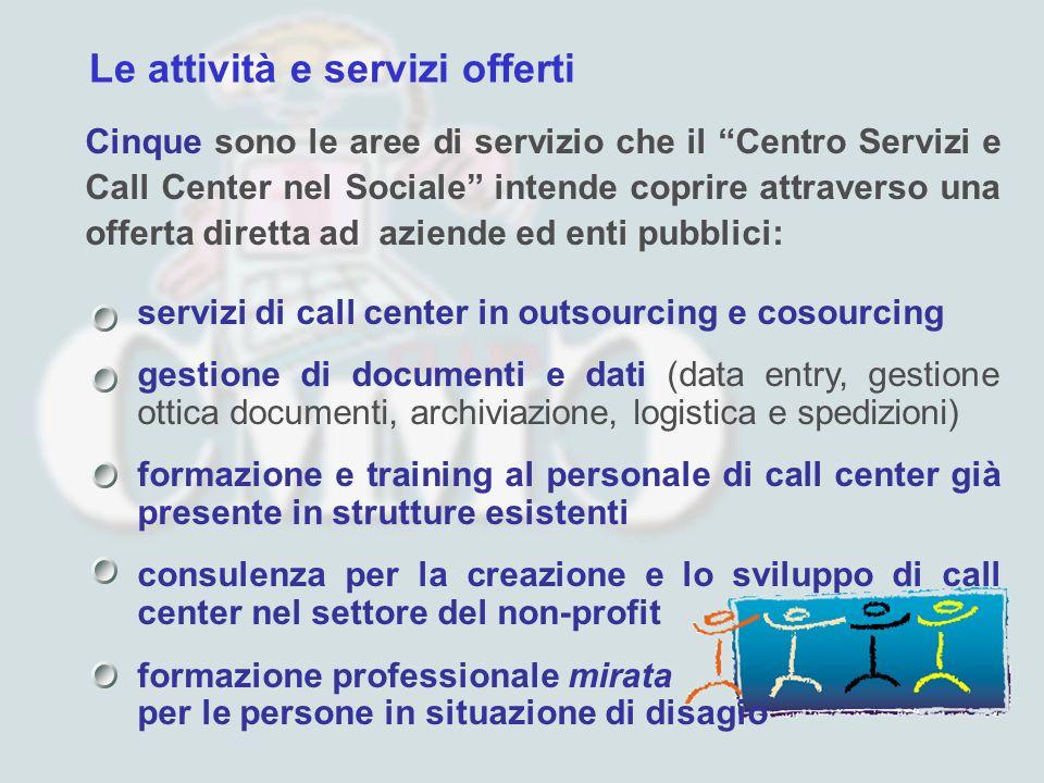 Le attività e servizi offerti