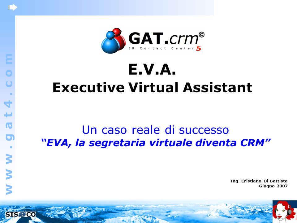 Executive Virtual Assistant EVA, la segretaria virtuale diventa CRM