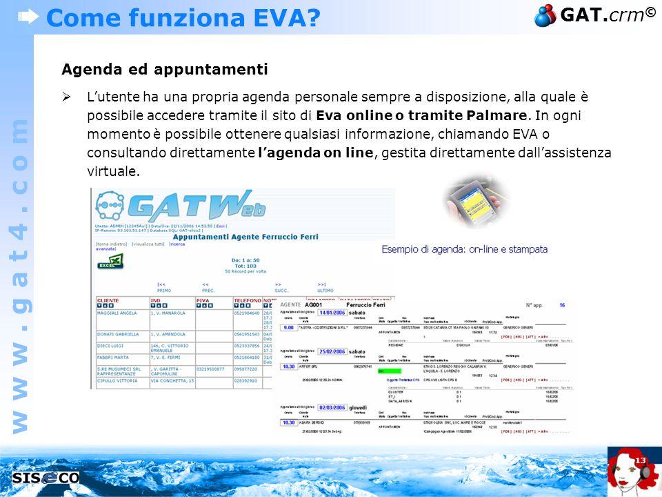 Come funziona EVA Agenda ed appuntamenti