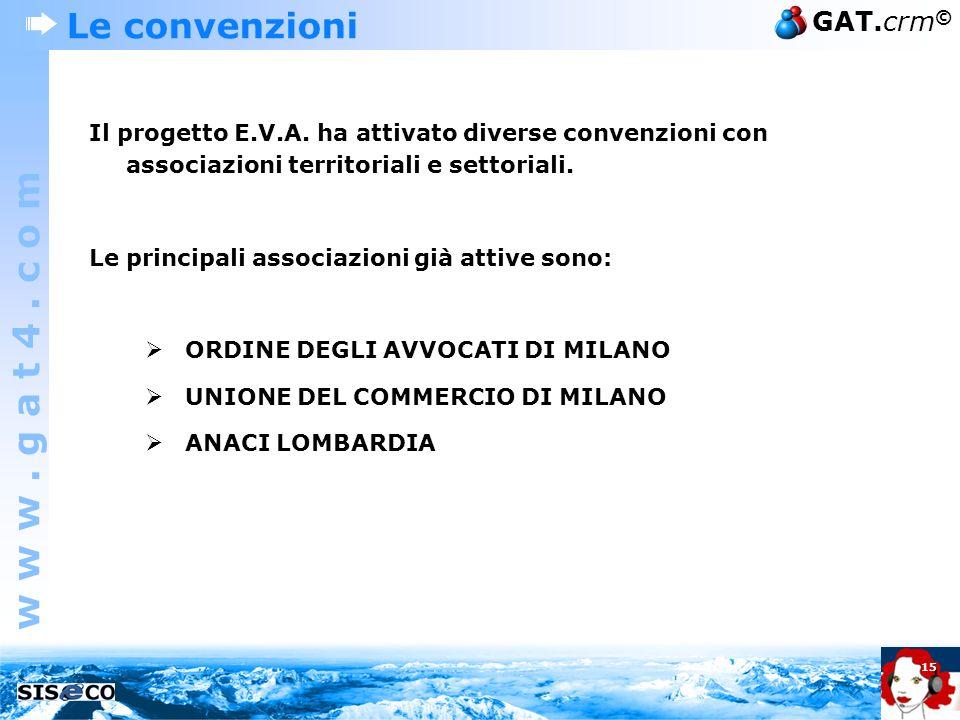 Le convenzioni Il progetto E.V.A. ha attivato diverse convenzioni con associazioni territoriali e settoriali.