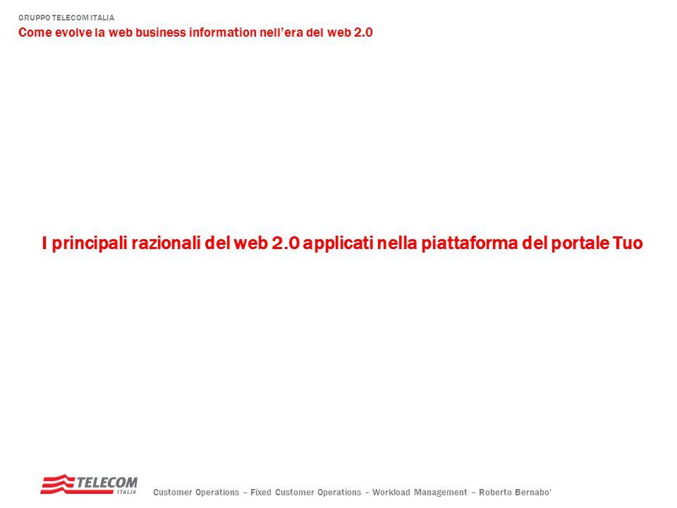 I principali razionali del web 2