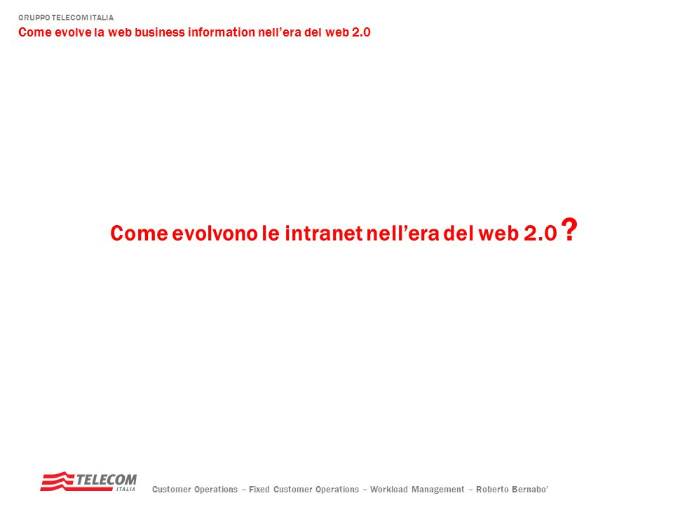 Come evolvono le intranet nell'era del web 2.0
