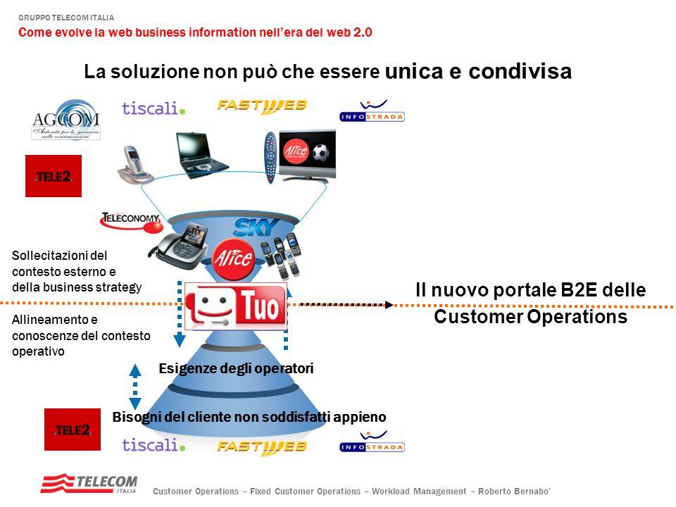Il nuovo portale B2E delle Customer Operations