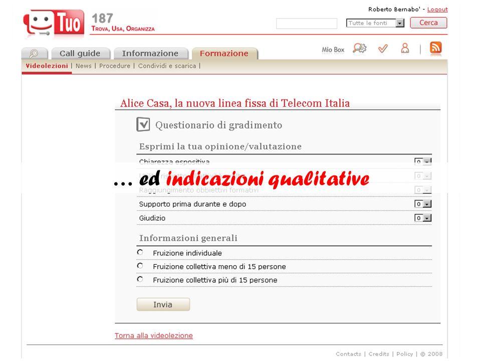 … ed indicazioni qualitative