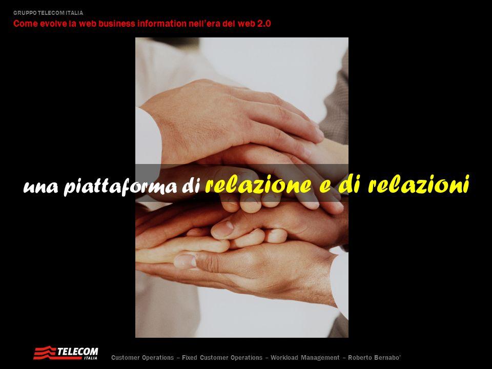 una piattaforma di relazione e di relazioni