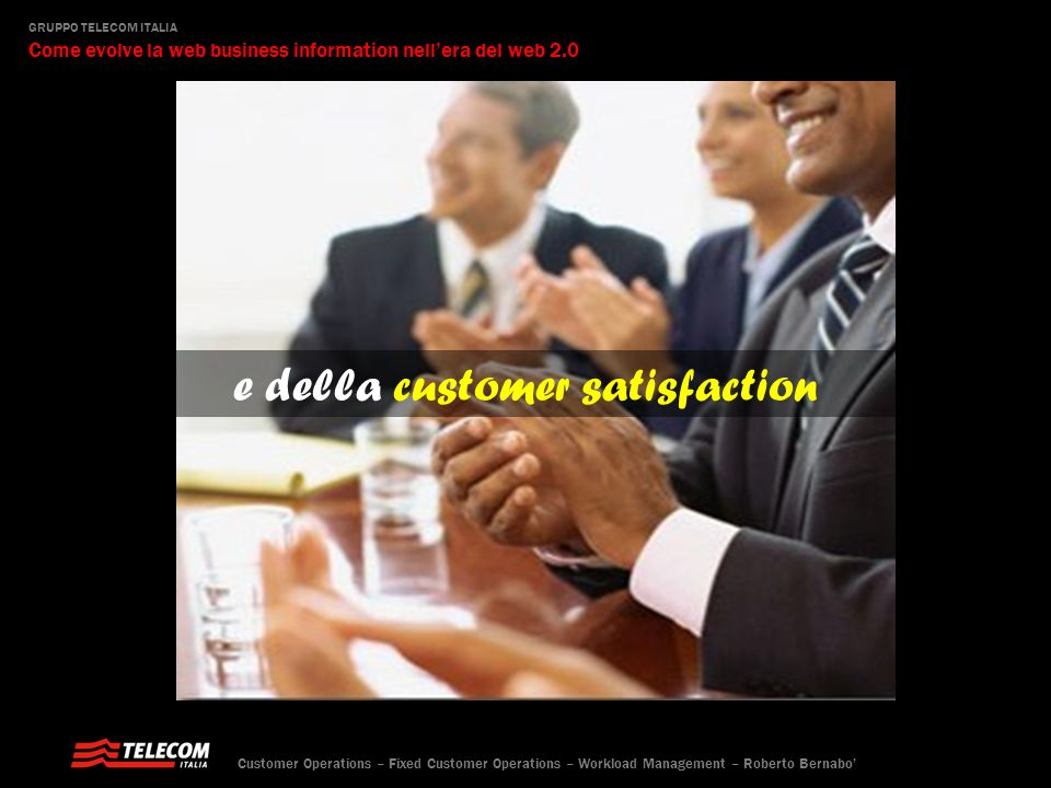 e della customer satisfaction