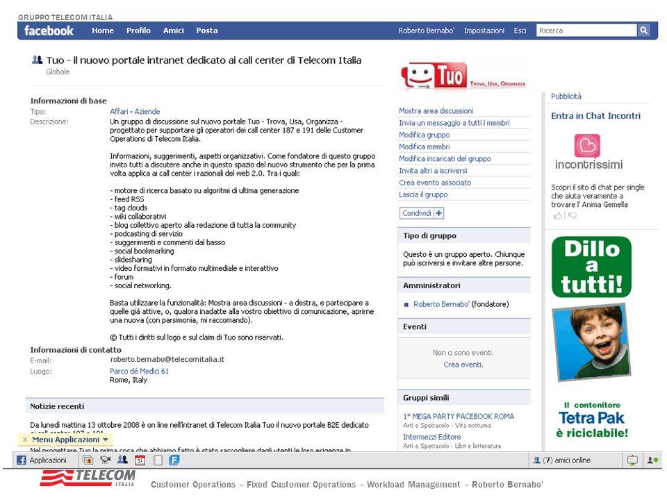 E per chi accede ad internet … è attivo su facebook un Gruppo di discussione sul nuovo strumento di lavoro …