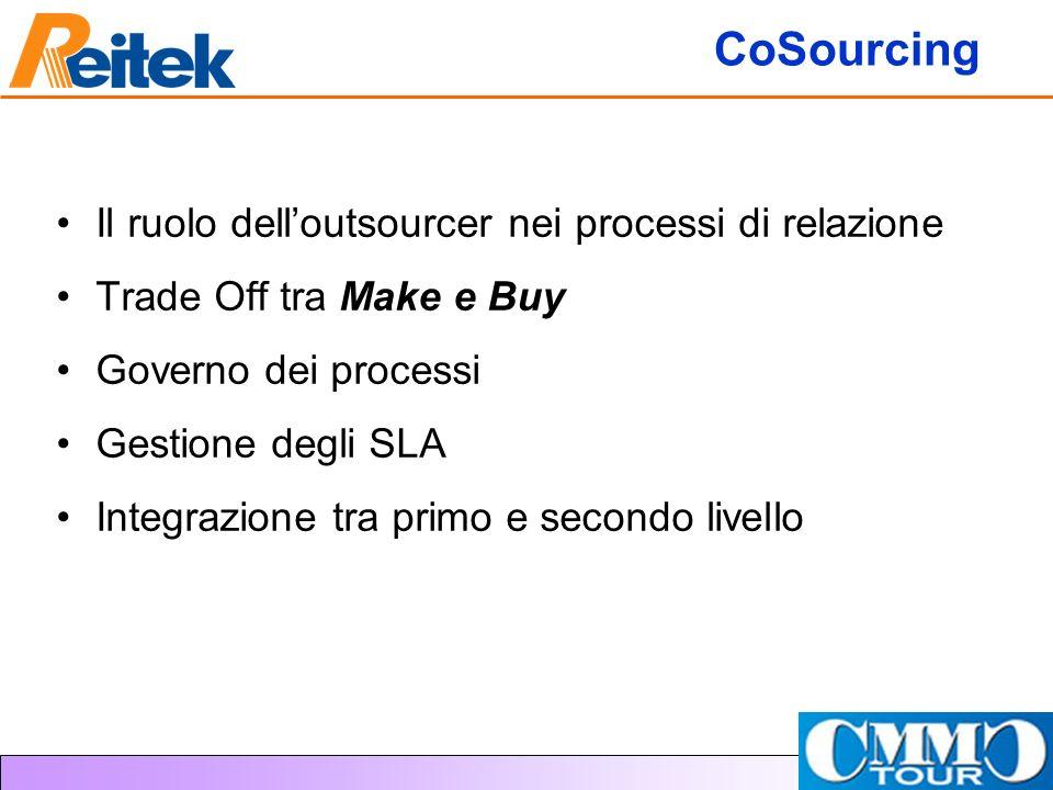 CoSourcing Il ruolo dell'outsourcer nei processi di relazione