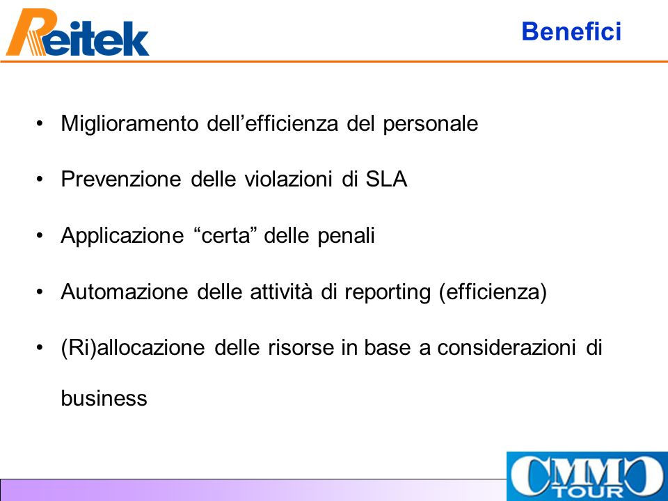 Benefici Miglioramento dell'efficienza del personale