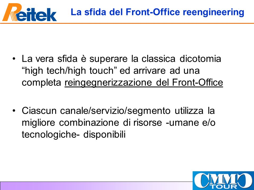 La sfida del Front-Office reengineering