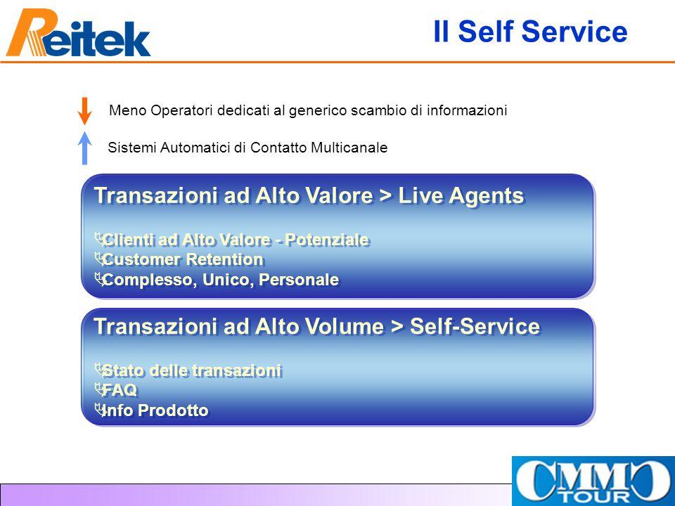 Il Self Service Transazioni ad Alto Valore > Live Agents