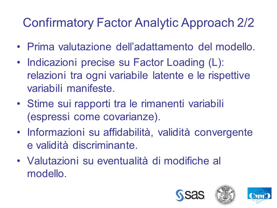 Confirmatory Factor Analytic Approach 2/2