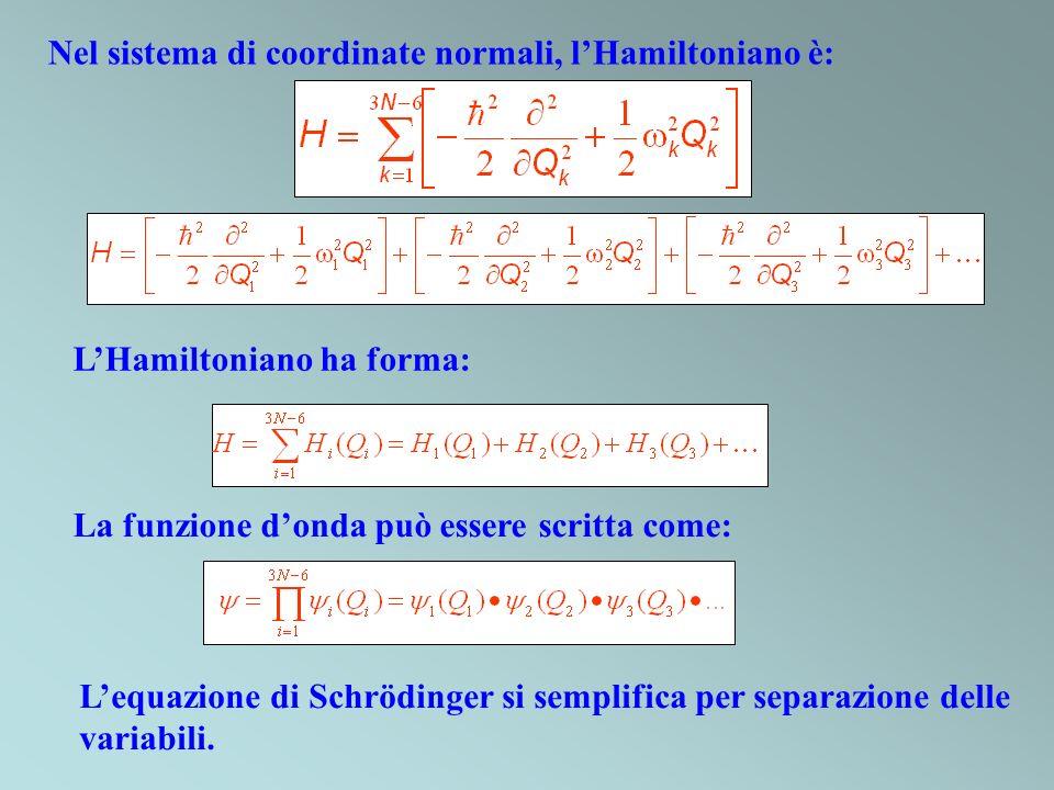 Nel sistema di coordinate normali, l'Hamiltoniano è: