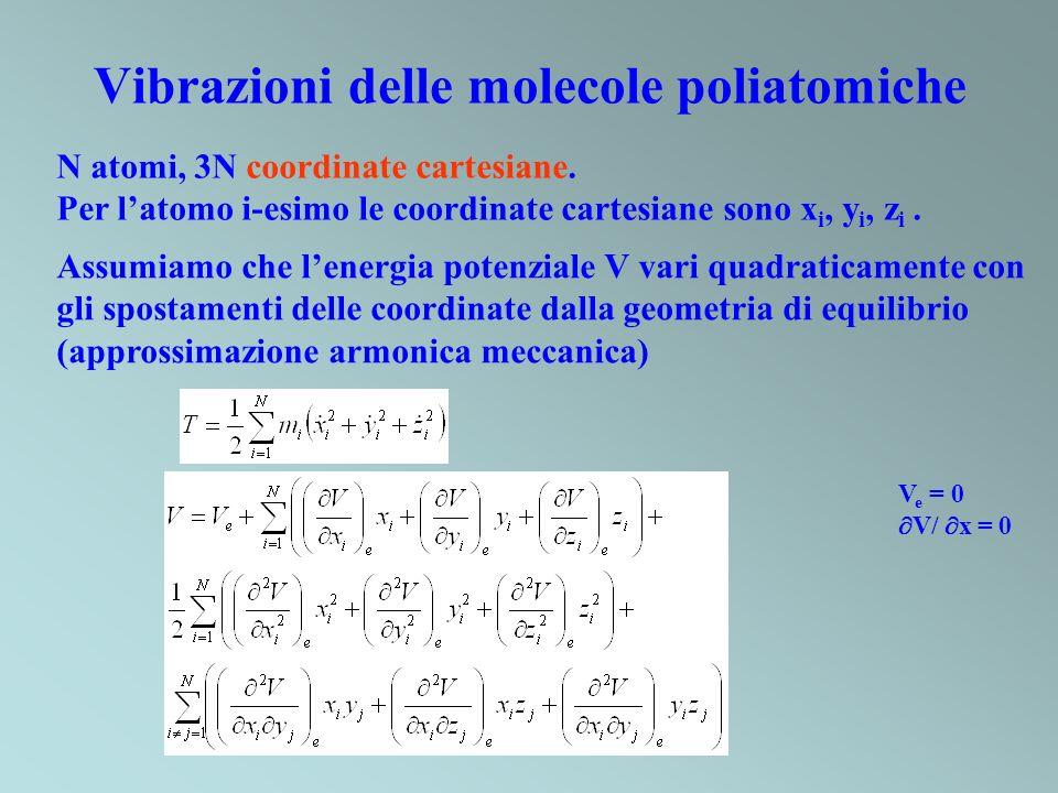 Vibrazioni delle molecole poliatomiche