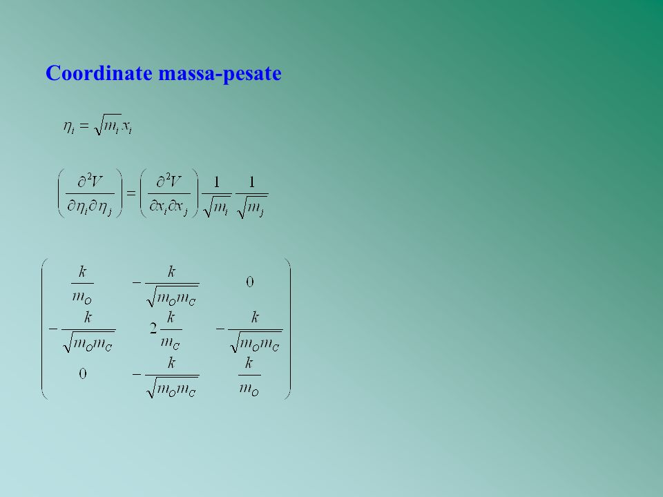 Coordinate massa-pesate
