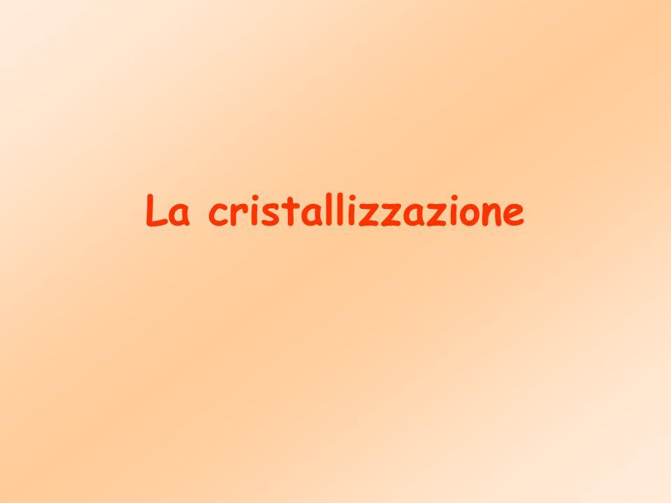 La cristallizzazione