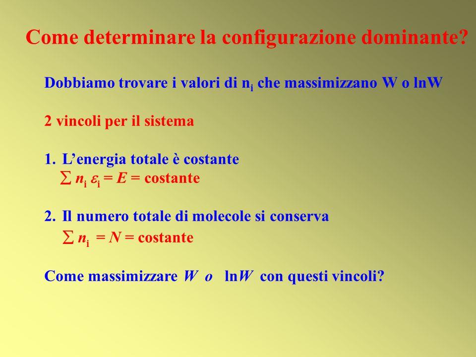 Come determinare la configurazione dominante