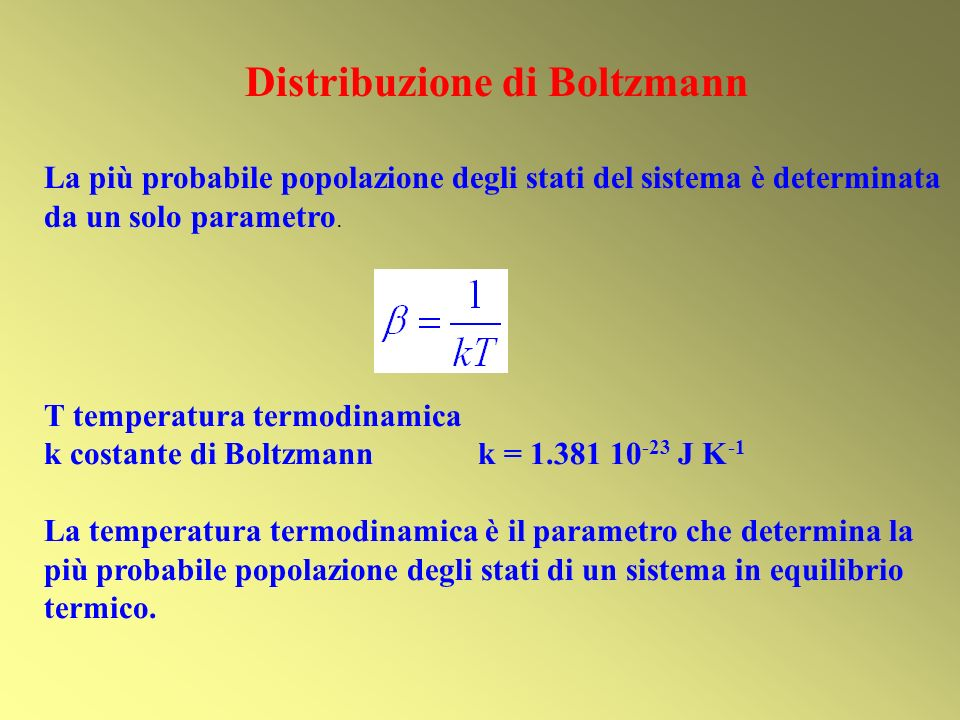 Distribuzione di Boltzmann