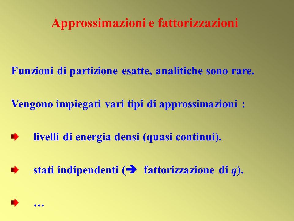 Approssimazioni e fattorizzazioni