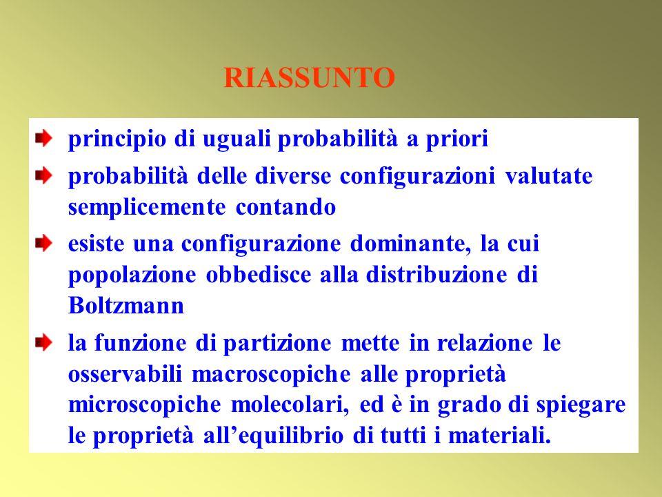 RIASSUNTO principio di uguali probabilità a priori