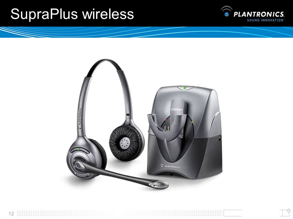 SupraPlus wireless SupraPlus Wireless opens up a wireless dimension to traditional telephony.