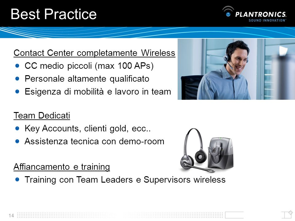 Best Practice Contact Center completamente Wireless