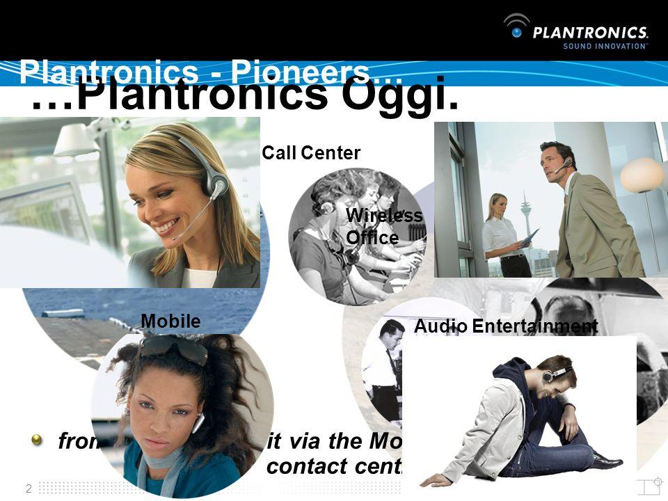 …Plantronics Oggi. Plantronics - Pioneers… Plantronics - Pioneers…
