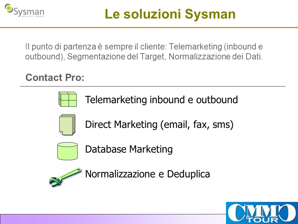 Le soluzioni Sysman Contact Pro: Telemarketing inbound e outbound