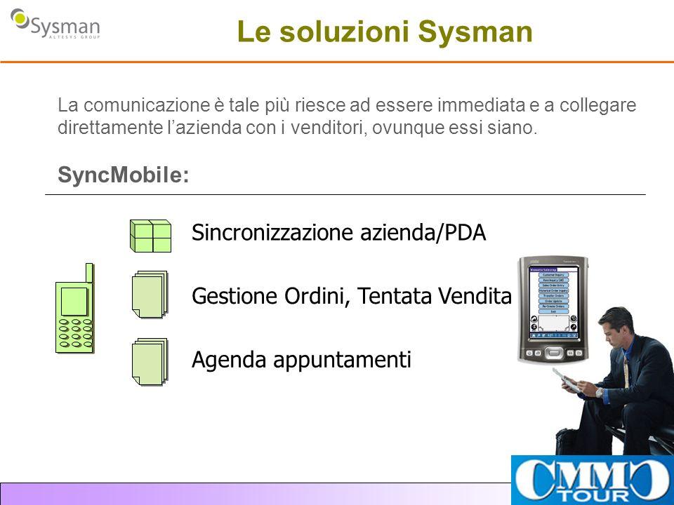 Le soluzioni Sysman SyncMobile: Sincronizzazione azienda/PDA