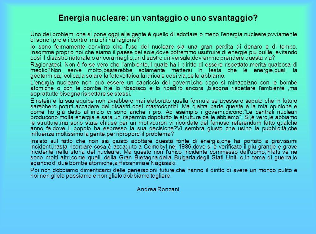 Energia nucleare: un vantaggio o uno svantaggio