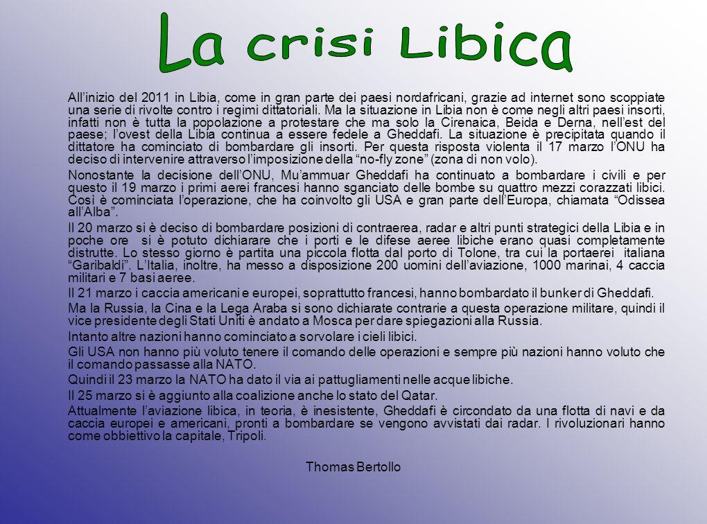 La crisi Libica