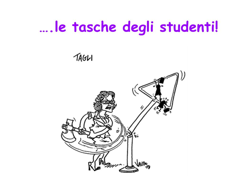 ….le tasche degli studenti! .