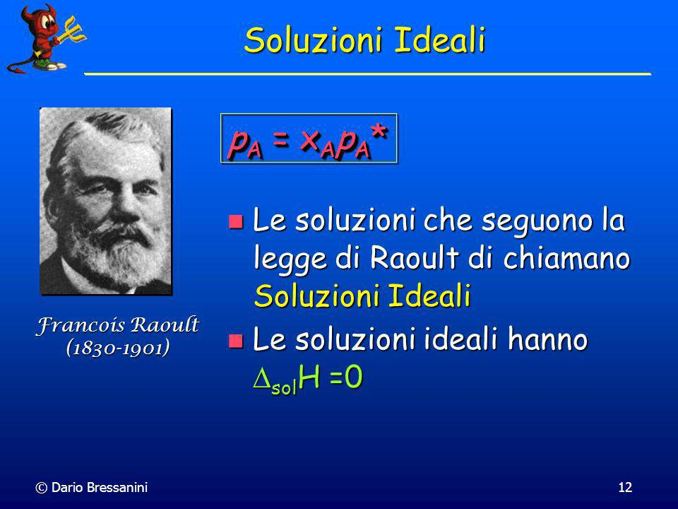 Soluzioni Ideali pA = xApA*