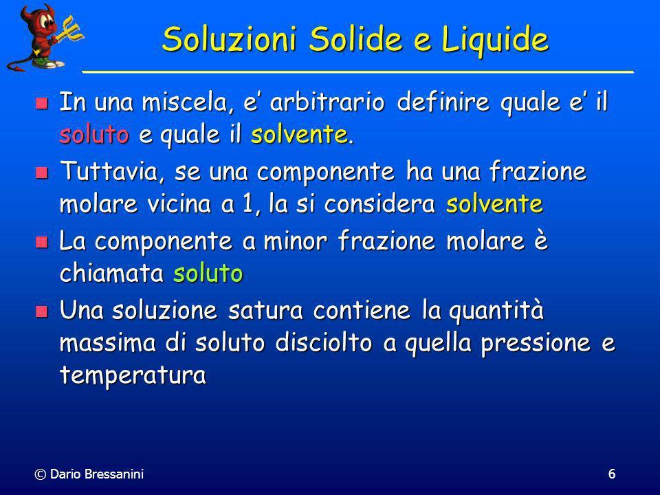 Soluzioni Solide e Liquide