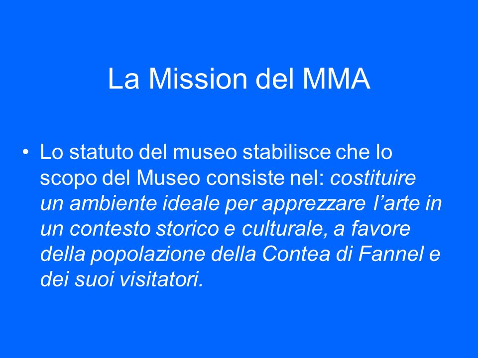La Mission del MMA