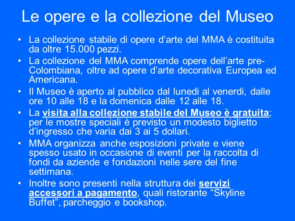 Le opere e la collezione del Museo
