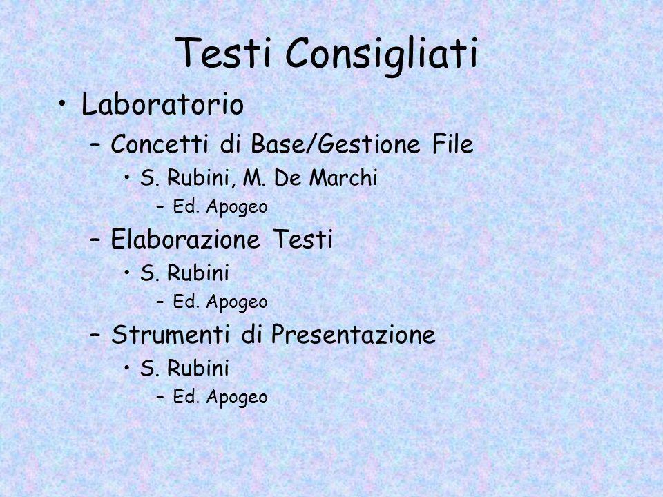 Testi Consigliati Laboratorio Concetti di Base/Gestione File