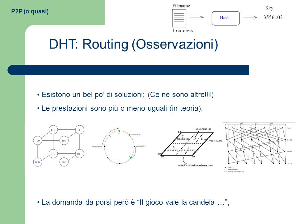 DHT: Routing (Osservazioni)
