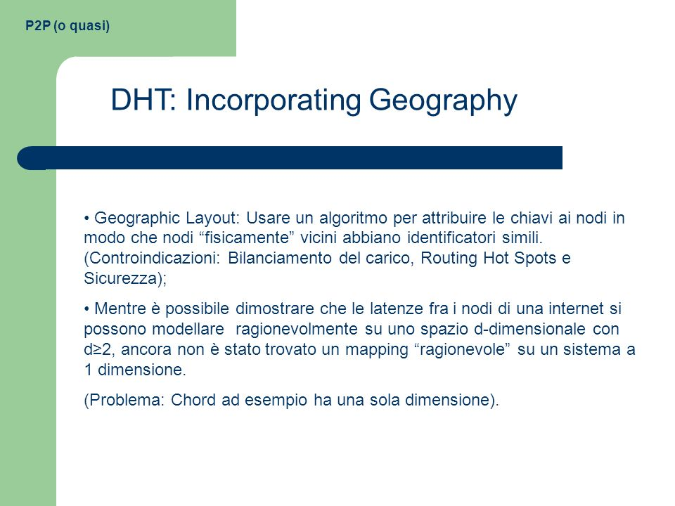 DHT: Incorporating Geography