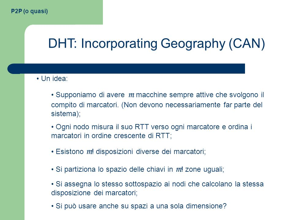 DHT: Incorporating Geography (CAN)