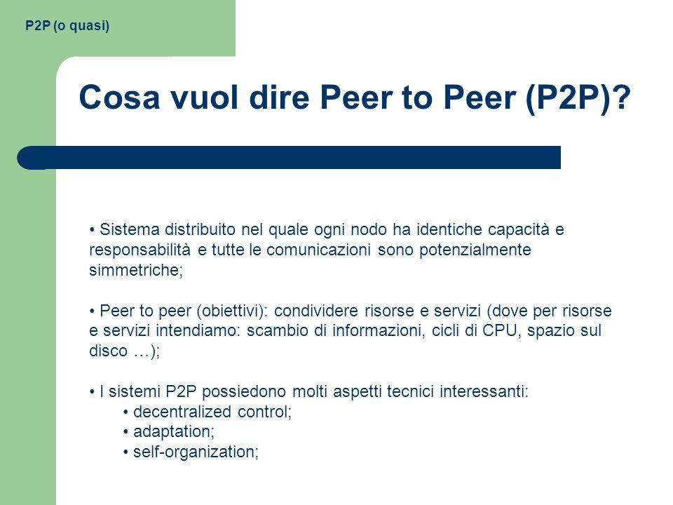 Cosa vuol dire Peer to Peer (P2P)