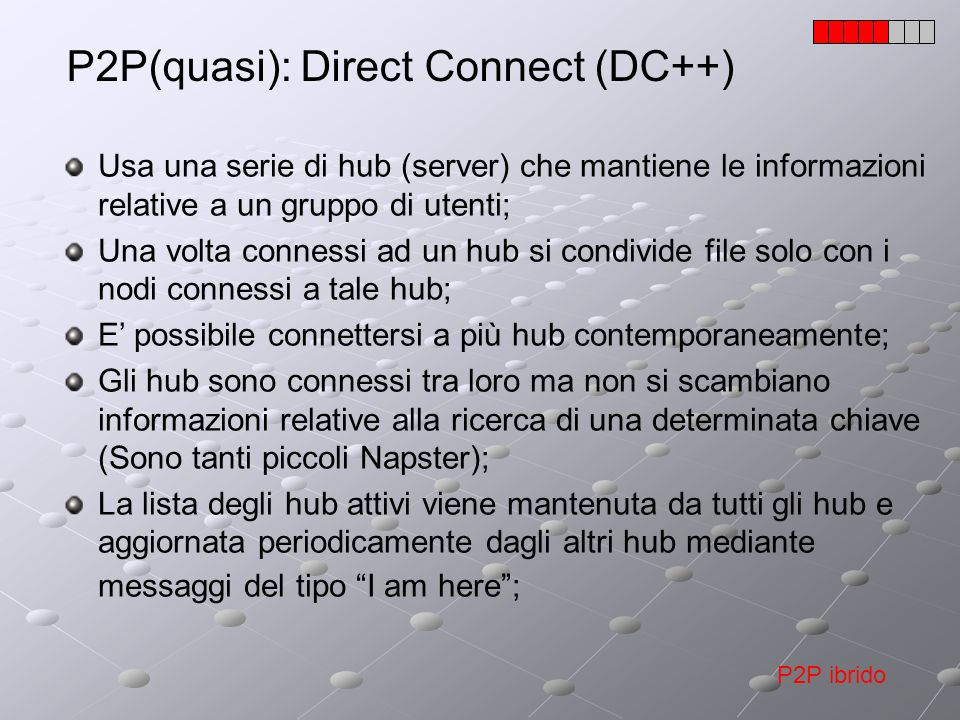 P2P(quasi): Direct Connect (DC++)